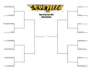 Tape of the Year 2012 Bracket